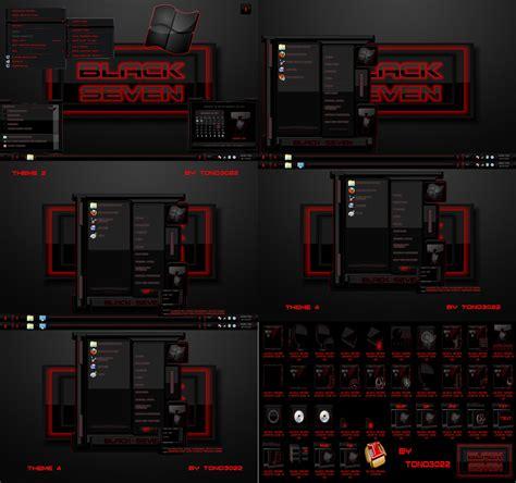 themes black windows 7 windows 7 theme black seven red by tono3022 on deviantart