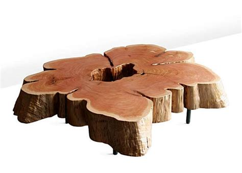 tree cross section table tables charm comes from their trees sfgate