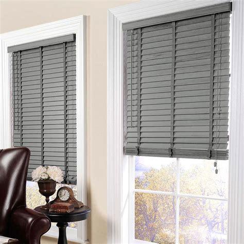 grey wooden window blinds