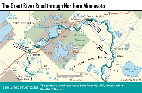 road map minnesota usa the great river road through minnesota road trip usa