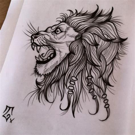 lion profile tattoo