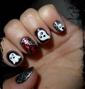 50 simple easy spooky amp scary halloween nail art designs