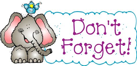 clipart donne elephant don t forget clipart 21