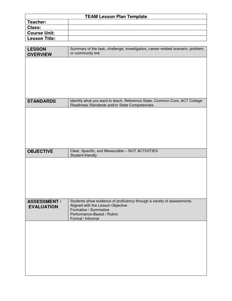 team lesson plan template elipalteco