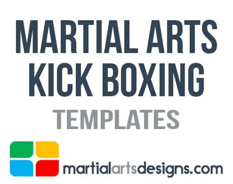 martial arts kick boxing templates