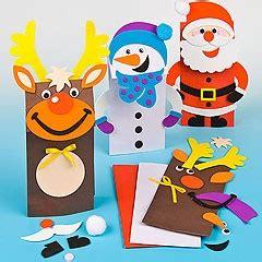 christmas paper bag puppet kits