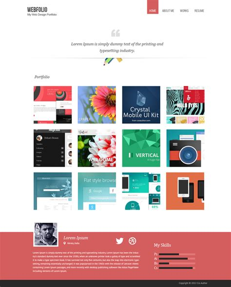 portfolio design template free 16 premium and free psd website templates