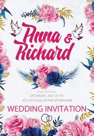 Wedding Invitation Psd Flyer Template 9513 Styleflyers Wedding Invitation Flyer Template