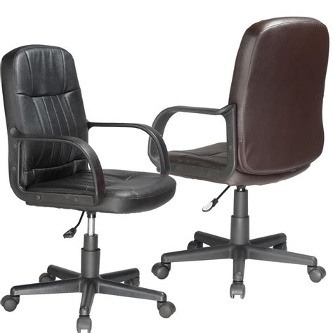 Amazon Com Comfort Products 60 5607m Mid Back Leather Comfort Office Furniture