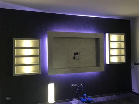cornice per tv foto cornice tv in cartongesso retroilluminata di edil