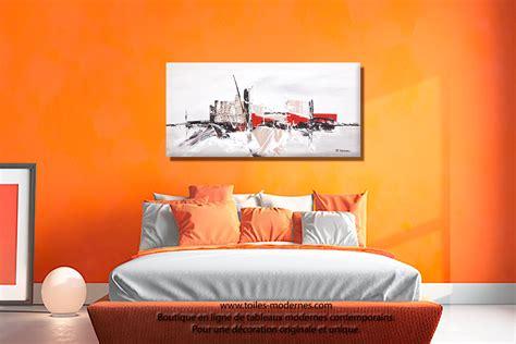 Supérieur Tableau Decoratif Salon #10: Tableau-moderne-au-dessus-d--Bun-lit-R%C3%AAve-de-la-ville.jpg