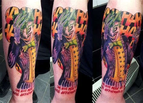 joker sleeve tattoo 38 batman joker tattoos