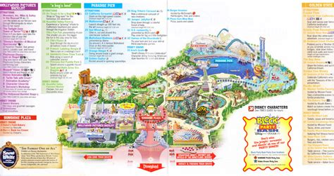 disney california adventure map disney california adventure 2007 park map