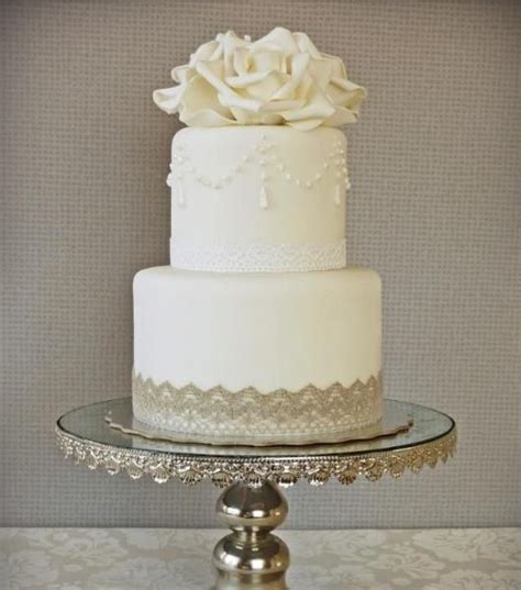 white 2 tier wedding cake except without the flower on top wedding