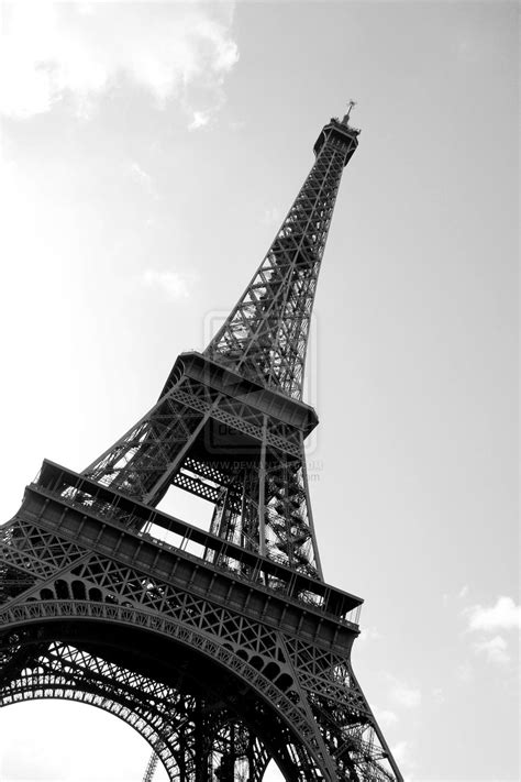 paris eiffel tower black  white   wallpaper