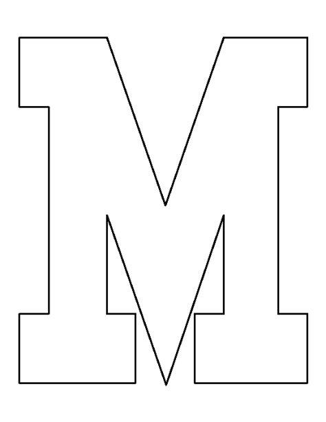 pattern for allowing only numbers printable letter m template