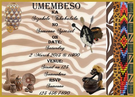 printable umembeso invitations umembeso invites