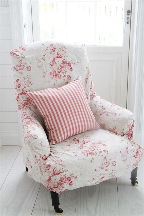kuddfodral natural  stripe raspberry slipcovers