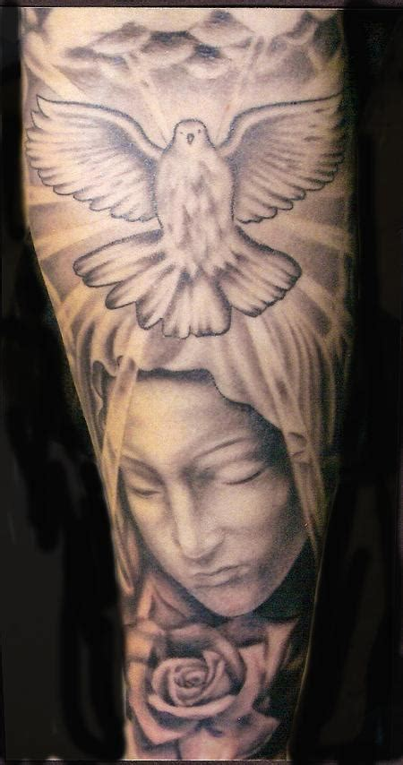 53 graceful virgin mary shoulder tattoos
