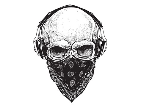 imagenes de calaveras sonriendo skull with headphones by vecster dribbble