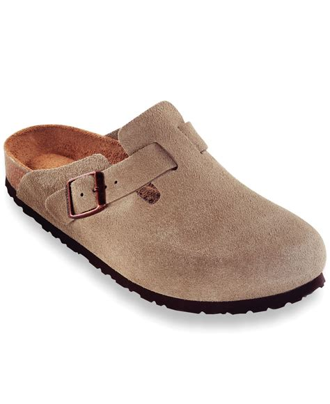 birkenstock clogs for birkenstock s boston soft footbed clogs in brown for