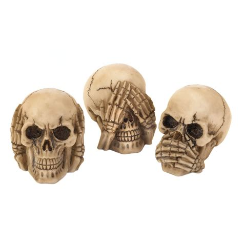 Home Decor Catalogs by See Hear Speak Skulls Trio Wholesale At Koehler Home Decor