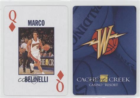 Cache Creek Gift Card - 2007 cache creek casino golden state warriors playing cards qd marco belinelli ebay