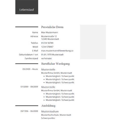 Moderner Lebenslauf Muster 2015 Lebenslauf Beispiel Moderne Vorlage In Grau