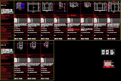 window templates for autocad cad drawing window schedule template 1