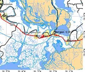 Louisiana Bayou Map by Census Designated Places In Louisiana By Parish