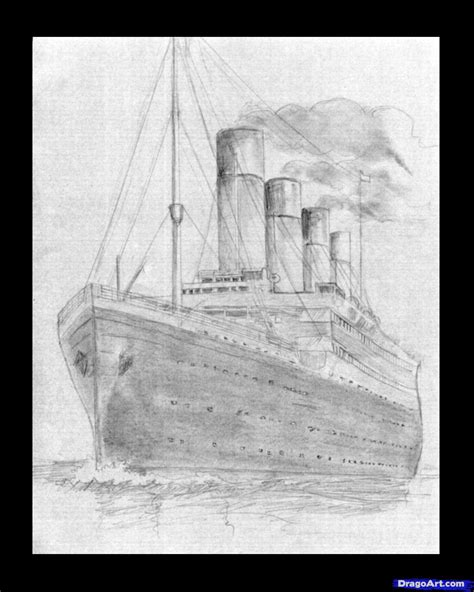 titanic boat drawing how to draw the titanic titanic step by step boats