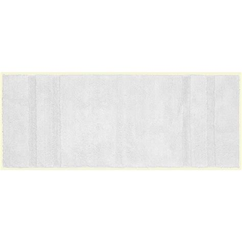 30 X 60 Bath Rug Garland Rug Majesty Cotton White 22 In X 60 In Washable Bathroom Accent Rug Pri 2260 01 The