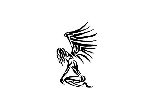 tribal angel tattoo angel tattoo tribal tatoos tribal on the knees wallpaper