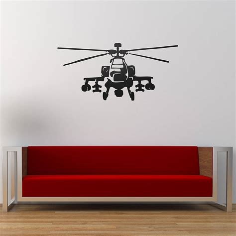 Helicopter Wall Stickers apache helicopter vinyl wall sticker by oakdene designs