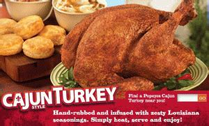 popeyes turkey thanksgiving news popeyes cajun style turkeys are back brand eating
