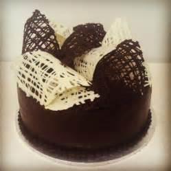 chocolate cake with chocolate decoration pasteles