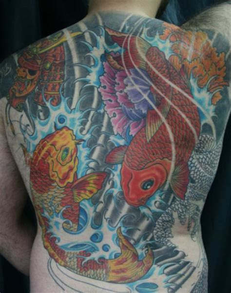 japanese back tattoo koi japanese back carp koi tattoo by exclusive tattoos