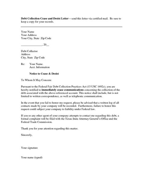 debt collector letter template best photos of debt collection letter debt collection