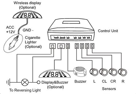 wiring diagram for rear parking sensors 28 images lcd