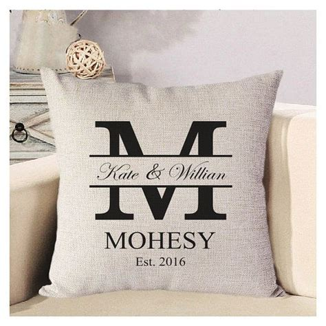 Personalized Wedding Pillow Cover Monogram Pillow by