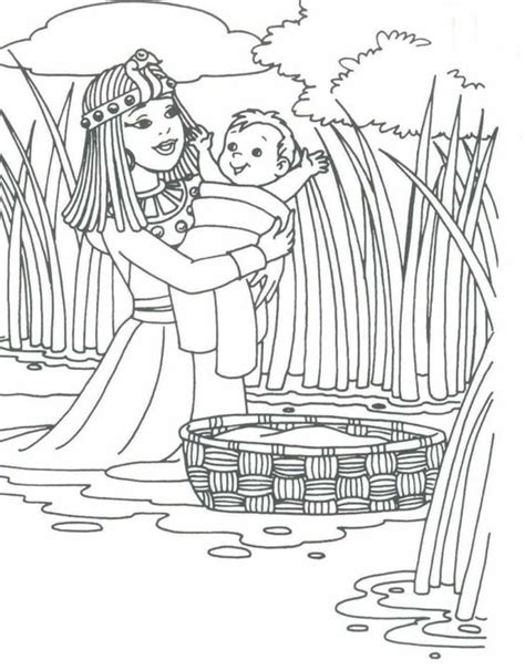 coloring pages of baby moses and miriam 1 baby moses moses baby pinterest coloring baby