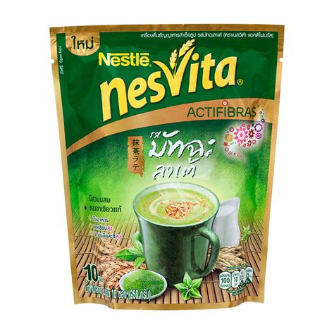 Instant Cereal Flavour nesvita actifibras instant cereal beverage matcha latte flavour 23g pack 10sachets tops