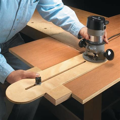wood router template router edge guide wood magazine