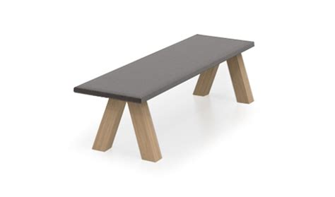 john pawson bench viccarbe trestle bench by john pawson northern icon