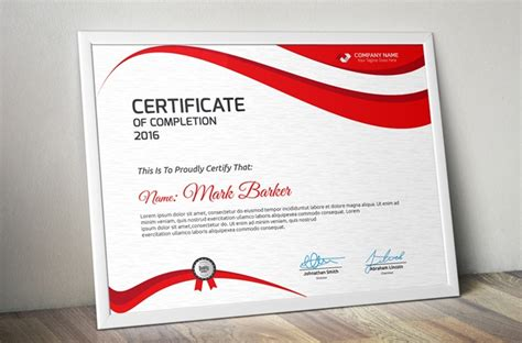 20 Free And Premium Psd Certificate Templates Webprecis Free Psd Certificate Templates
