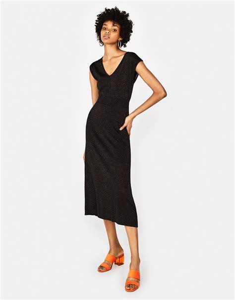 Jual Bershka Metallic Mini Dress by E020e38c5a4b1395b656e03cd0be3875pleated Metallic Stripe