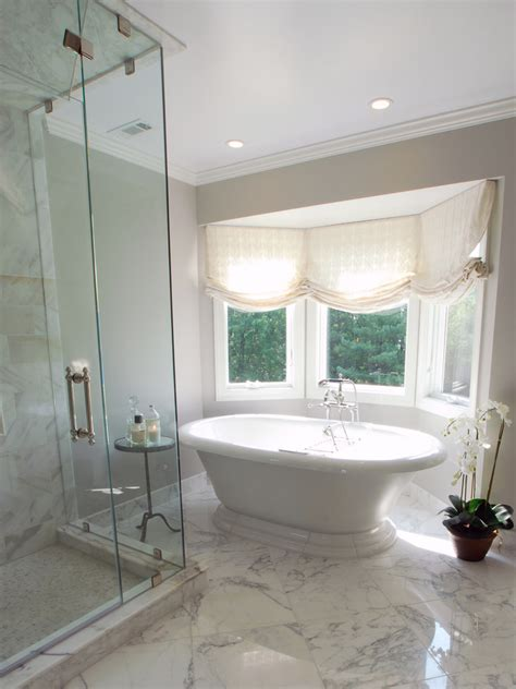Bathroom Ideas With No Windows Inspiration Glamorous Window Treatments For Bay Windows Convention Baltimore Traditional Bathroom