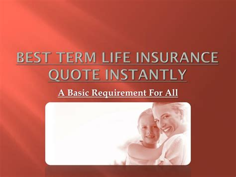 term life insurance quote instantly powerpoint  id