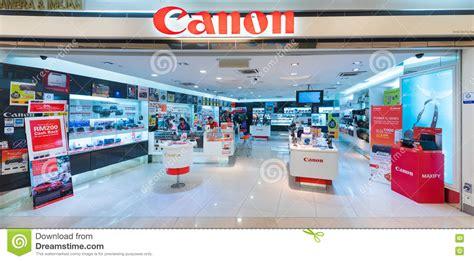 canon store in suria klcc mall kuala lumpur editorial