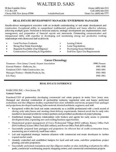 real estate resume exles resume objective general for exles selfirm retail
